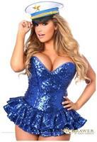 Top Drawer Premium Sequin Sailor Corset Dress Costume