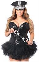 Top Drawer 4 PC Sexy Cop Corset Costume