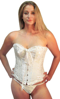 Womens Bridal White Shaper Corset Top