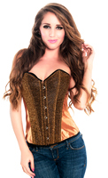 Royal Bronze Sequin Overbust Valentine Corset Top