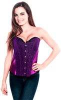 Vibrant Purple Sequin Burlesque Party Corset Top
