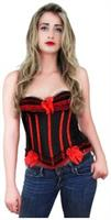 Black Red Womens Fashion Corset Top