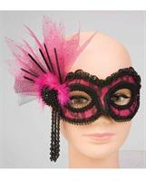 Neon Lace Pink Mask