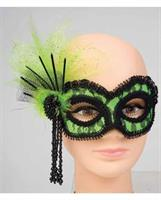 Neon Lace Green Mask