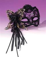 Butterfly, Rose Lace Black Mask