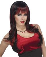 Vicious Black Red Wig