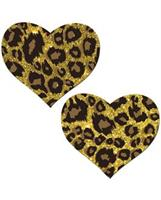 Pastease Glitter Animal Print Heart - O/S
