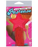 Pastease Red Sparkle Tassle Stars
