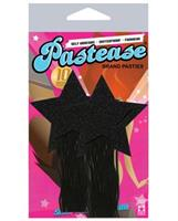 Pastease Black Sparkle Tassle Stars