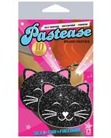 Pastease Black Glitter Black Cat O/S