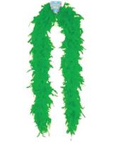 "72"" feather boa - green"