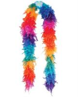 Lightweight feather boa - rainbow