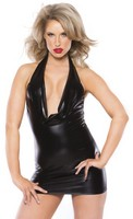 Kitten Wet Look Cowl Neck Dress
