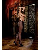 Fishnet panty hose with back seam black