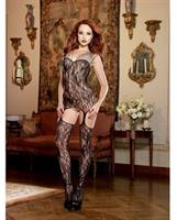 Stretch Lace Garter Dress with Attached Garters