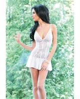 Chemise with Scalloped Stretch Lace Cups and Adjustable Straps