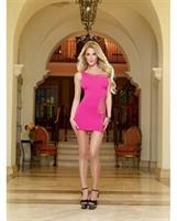 Seamless One Shoulder Dress with G-String