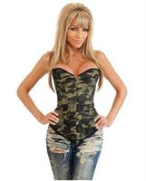 Camo queen burlesque corset and thong