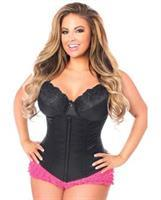 Underbust Corset w/Zip Up Front Black
