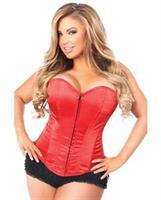 Overbust Corset w/Zip Up Front Red