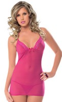Halter Tie Chemise with G-String