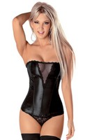 Slimming Sheer Bust Corset with Side Zipper