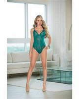 Lace Teddy w/Open Back Teal
