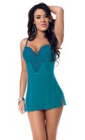 Embroidered Chemise with G-String