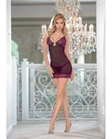 Jewel Front Chemise Berry