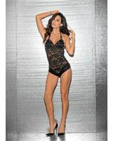 Halter Jeweled Romper Black