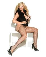 Vivace diamond net suspender pantyhose