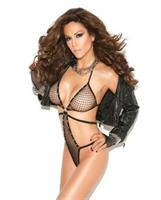 Vivace Diamond Net Teddy with Rhinestone Detail