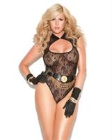 Vivace lace teddy black