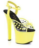 "Ellie Shoes Solar 7"" Neon Platform"
