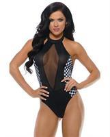 Play Revved Up Teddy w/Halter Tie and Hot Bod Detail Black/White