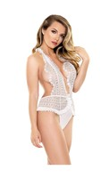 Tease Emma Lace Halter Teddy White