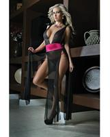 Deep V Neckline, High Slit Sides Open Back Gown with Lace Thong