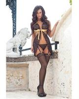 Darling Sheer Lace Babydoll With Matching