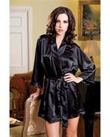 Satin 3/4 Sleeve Robe with Matching Sash