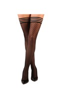 Kix'ies Beth Ann Honeycomb Thigh High Black A