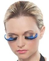 Blue and Black Curled Eyelashes