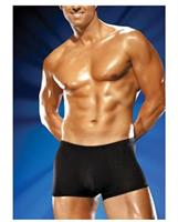 Male power pouch shorts - black
