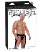 Fetish fantasy Ride'em Cowboy Assless Chaps with Jockstrap