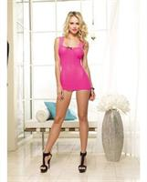 Stretch Mesh Chemise with Lace Strap Neckline