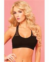 Sporty Breathable Mesh Bra with Removable Pad