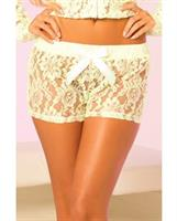 Pink Lipstick Loungewear Luxurious Lace Lounge Short