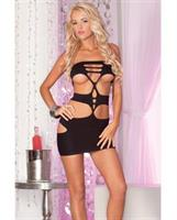 Pink lipstick nocturnal seamless mini dress