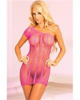 Pink Lipstick Futureshock One-Shoulder Dress