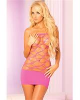 Pink Lipstick Web of Seduction Tube Pink Dress