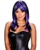 Brianna Wig - Purple with Black